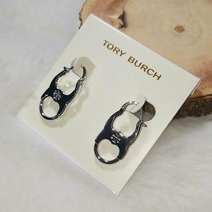 Tory Burch Gemini hoop earrings